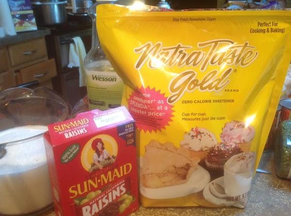 In a 4 cup measure or medium bowl add milk eggs zero calorie sweetner,...