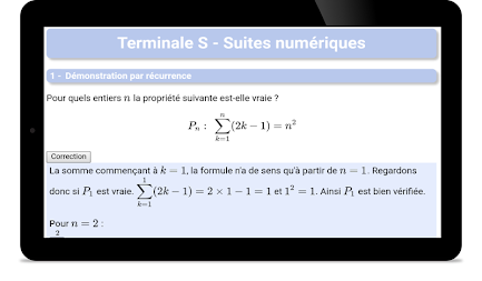 Maths TS : Suites Pro APK screenshot thumbnail 5