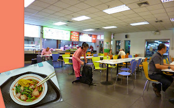 Photo: Canteen at the Bangkok's Suvarnabhumi International Airport. Cheap, clean, quick, and delicious. Two people dined with a bottled water at around 100 TBH (approximately 3 USD / 200 INR). I think this is the best option to eat at otherwise very expensive airport. I had Kuai Tiao, a noodle soup with fermented bean curd (tofu). At the ground floor, ahead of the taxi counters. 24th September updated (日本語はこちら) -http://jp.asksiddhi.in/daily_detail.php?id=657