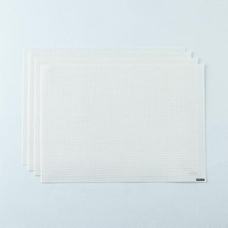 Mini Basketweave White Placemats (Set of 4)