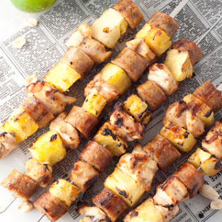 Hawaiian Pineapple Chicken Sausage Kabobs