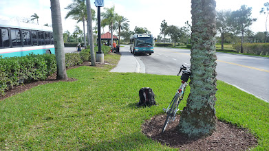 Photo: Back in Wellington. Now I got another 15 km to ride back to the TriRail station. That's hard as I cooled down and now the ride is diagonally against the wind.
