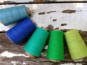 Photo: Organic cotton in cone sets in my etsy shop