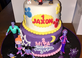 Vampirina and paws patrol cake