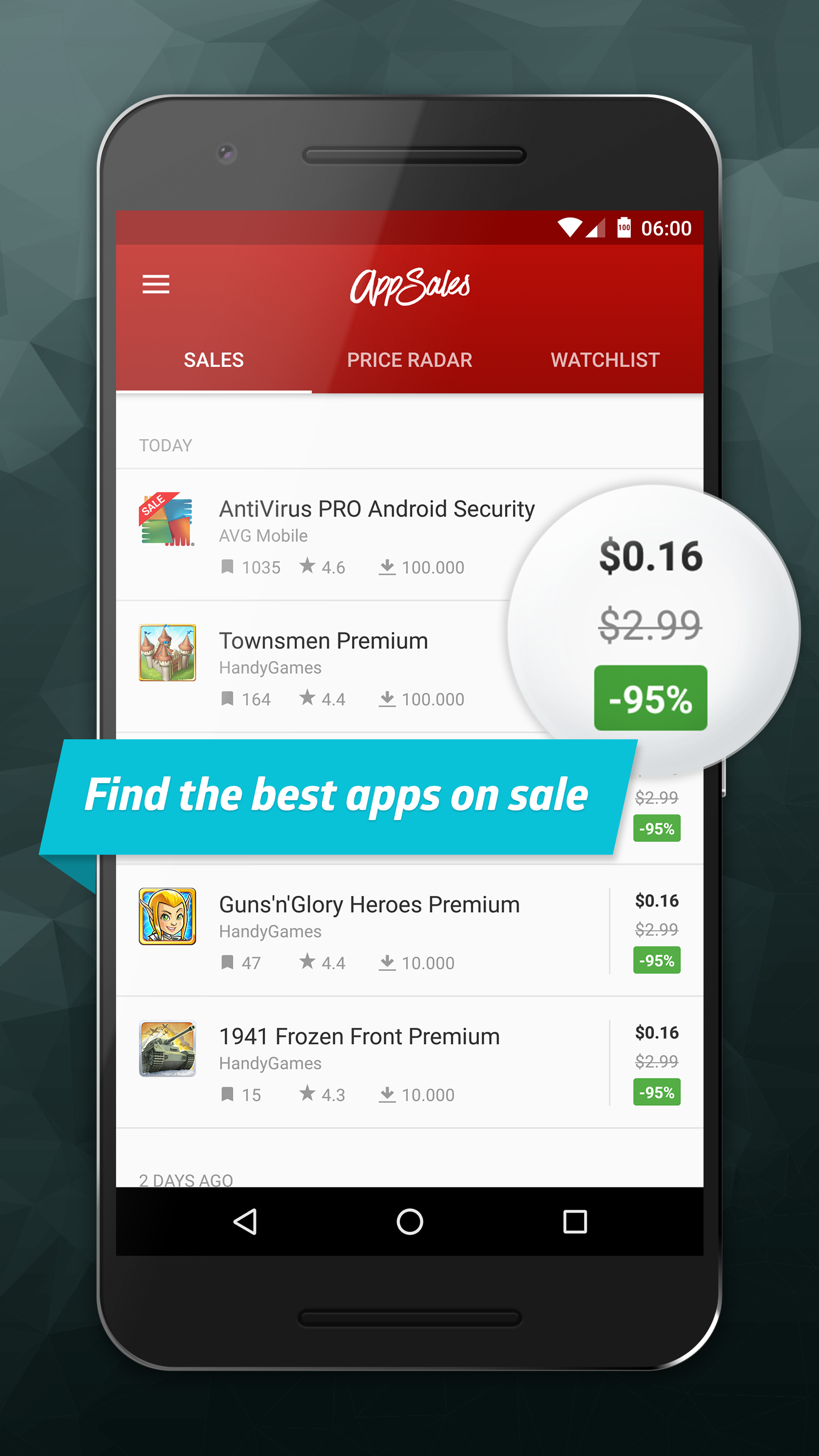 AppSales. Best Apps on Sale screenshot #1
