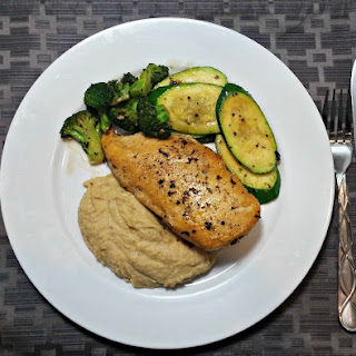 Chicken with Garlicky Greens and Chickpea Mash