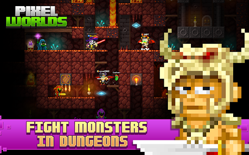 Pixel Worlds: MMO Sandbox Mod Apk Download For Android and Iphone 3