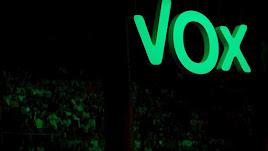 Acto de Vox 'Vistalegre Plus Ultra', en el Palacio de Vistalegre,