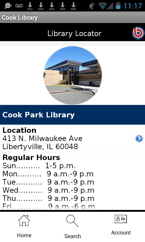 Cook Memorial Public Library- screenshot