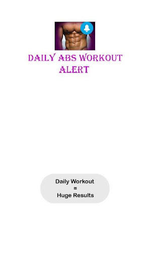 Daily Abs workout Reminder