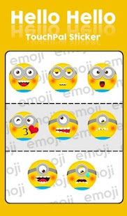 Hello Despicable Keyboard Sticker - náhled