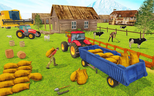 Modern Tractor Farming Simulator: Offline Games screenshots 12