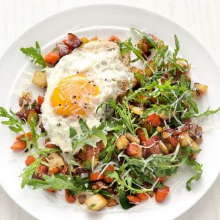 Root Vegetable Salad with Fried Eggs