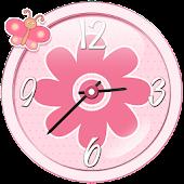 Cute Pink Analog Clock