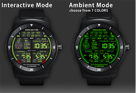 F08 3 x World Clock Watch Face- screenshot thumbnail