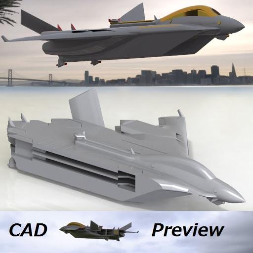 イージス飛行空母 Type L (1/3200) フルカラースケールモデル