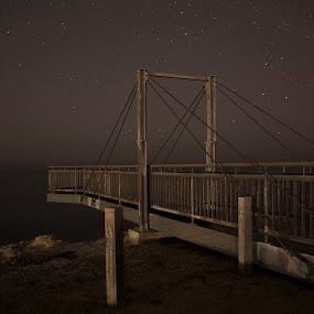 Nightlife  by Isabella Farrell Kym Matthews - Buildings & Architecture Bridges & Suspended Structures ( stars lookout night view )