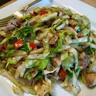 Chicken Cabbage Stir Fry.