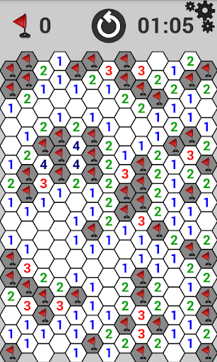 Minesweeper at hexagon