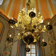 Photo: Of course, only a magnificent chandelier will do in such a place.