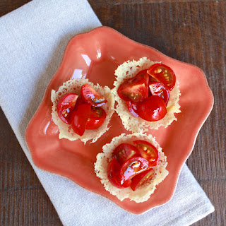 Frico Cups with Tomatoes and Balsamic