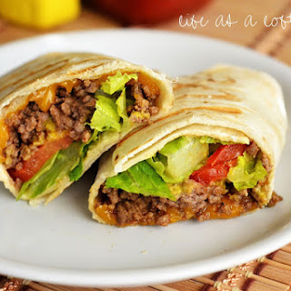 Grilled Cheeseburger Wraps.
