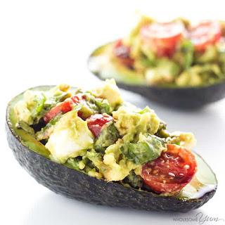 Caprese Stuffed Avocado Recipe (Low Carb, Gluten-Free) Recipe
