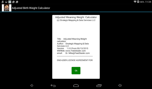 Adjusted Yearling Weight Calc