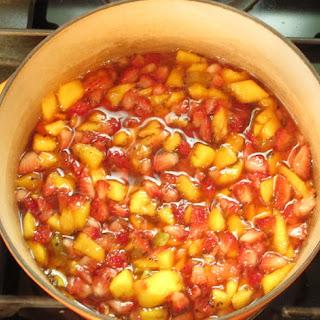 Quick Strawberry Jam with Kiwi and Mango.