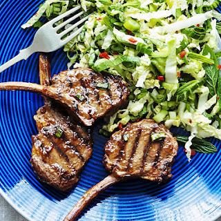 Hoisin Lamb Chops with Coleslaw.