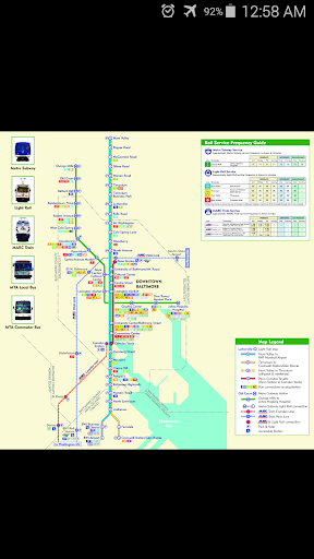 Baltimore Metro Map
