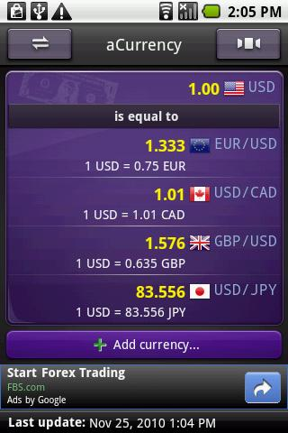 Acurrency Exchange Rate S On Google Play