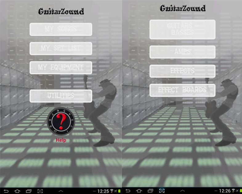 Guitar Zound - set list -TRIAL- screenshot