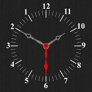 Reverse Clock Watch Face