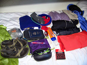 Photo: Ready to load my backpack one last time.