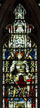 Photo: Detail 8 - Stained glass window West front Hereford Cathedral - 1902