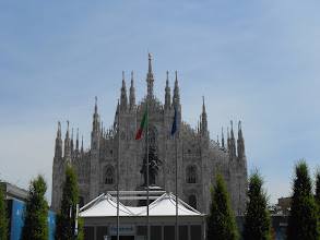 Photo: Made it to Milan Cathedral, where Chris and I dropped off our friend Roger ...