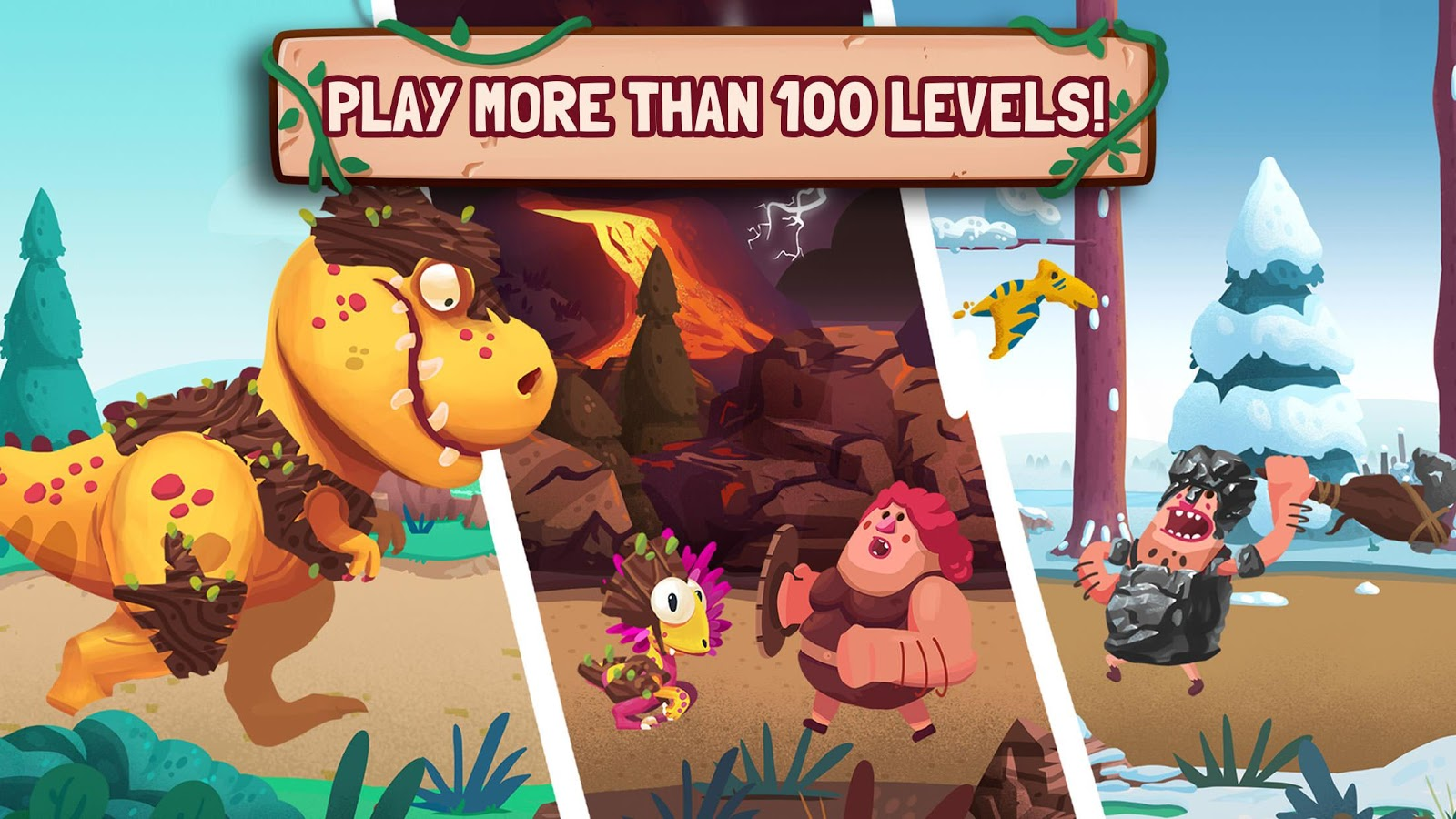 Dino Bash - Dinosaurs v Cavemen Tower Defense Wars- screenshot