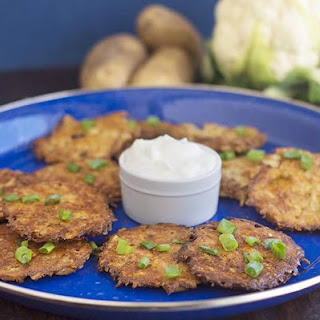 Baked Latkes With Cauliflower.