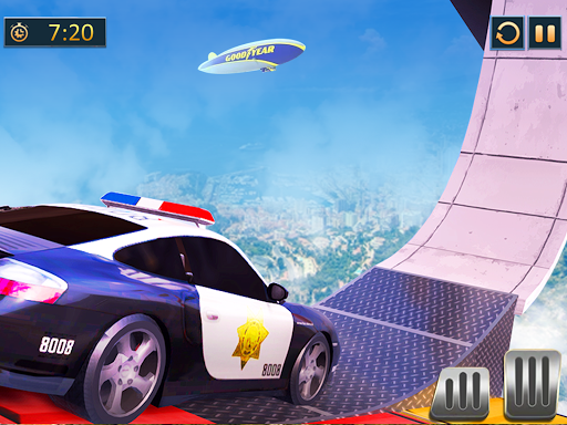 Ramp Police Car Stunts - New Car Racing Games screenshot 9