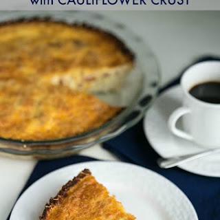 Bacon Cheddar Quiche with Cauliflower Crust