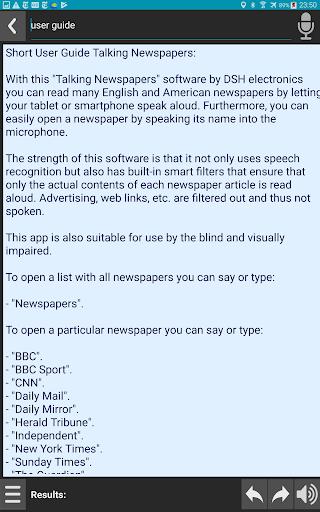 Talking Newspapers screenshot