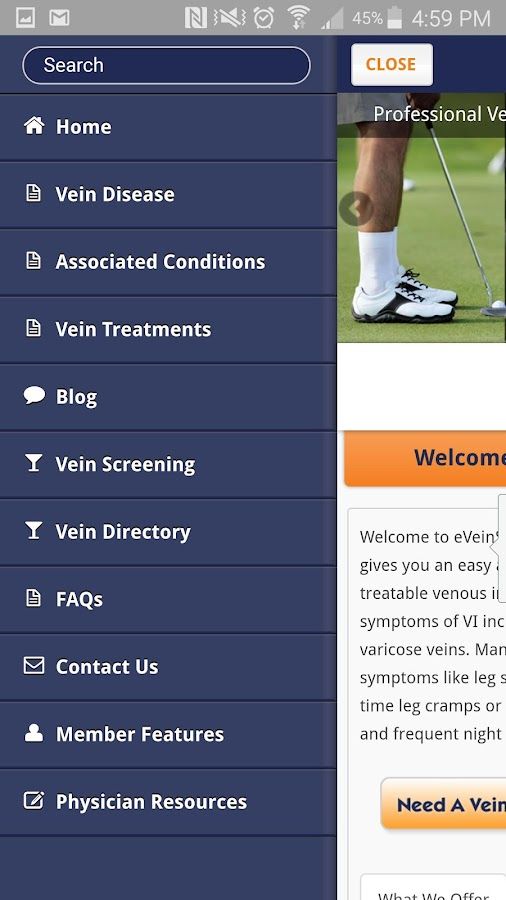 Vein Screening Online- screenshot