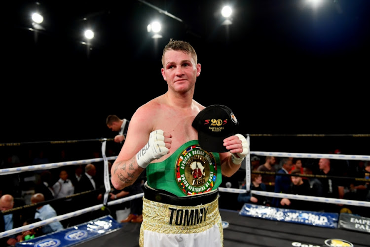 Tommy Oosthuizen during the Call to Glory Boxing event from Emperors Palace on September 01, 2018 in Johannesburg.