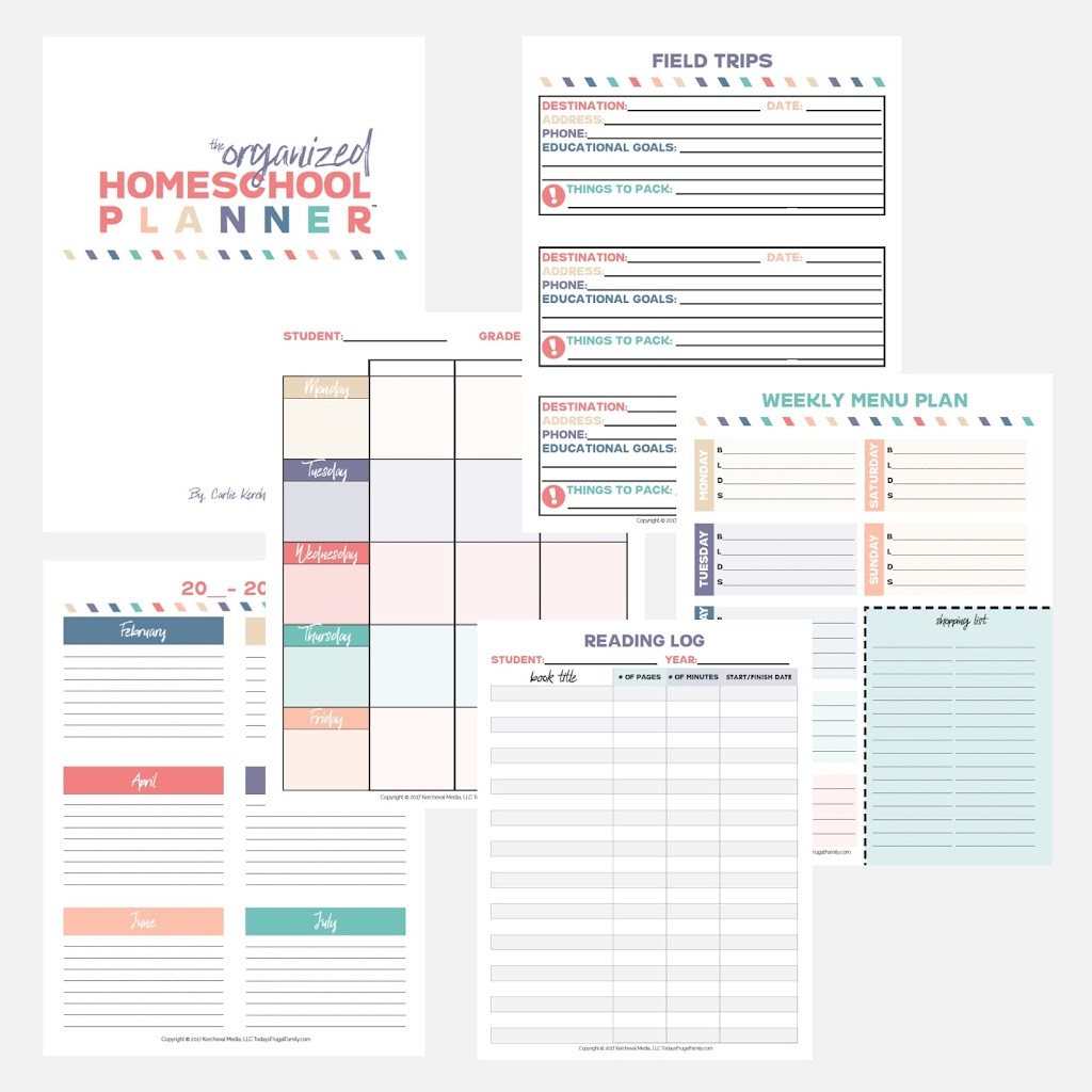 The Organized Homeschool Planner
