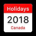 Canada Statutory Holidays 2018