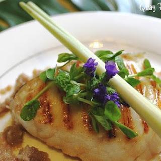 Cod Fillet In Lemon Grass Shallot Sauce.
