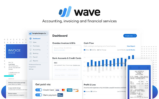 Wave Accounting Chrome Web Store - Invoice scanning software free for service business