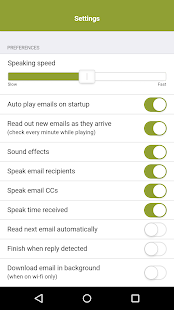 Speaking Email - voice reader- screenshot thumbnail