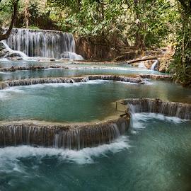 Kuang Si by Hale Yeşiloğlu - Landscapes Waterscapes ( waterscape, waterfall, laos, luang prabang, travel,  )